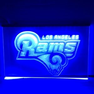 LOS ANGELES RAMS LED SIGN RAMS LIGHT RAMS NEON